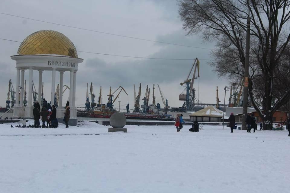 В Бердянск пришла настоящая зима (ФОТО), фото-9
