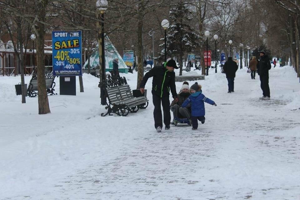 В Бердянск пришла настоящая зима (ФОТО), фото-13