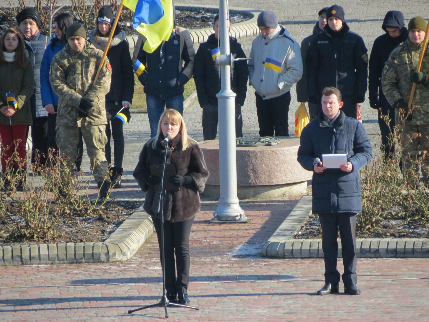 В Бердянске на площади Единства отметили 100-летие национального единства Украины (ФОТО), фото-3