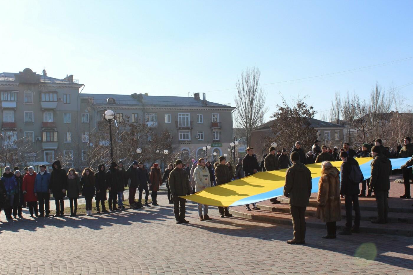 В Бердянске на площади Единства отметили 100-летие национального единства Украины (ФОТО), фото-9