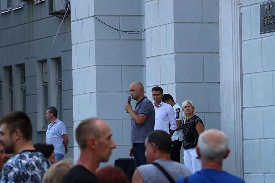 Не митинг, а хорошо спланированная акция в поддержку Александра Пономарева прошла под Бердянским горсоветом (ФОТО), фото-2