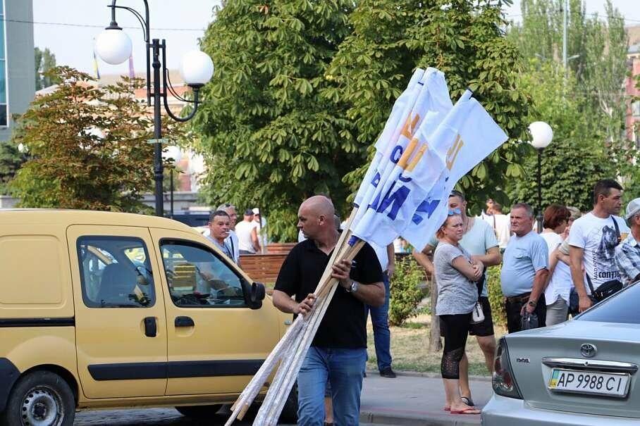 Не митинг, а хорошо спланированная акция в поддержку Александра Пономарева прошла под Бердянским горсоветом (ФОТО), фото-3