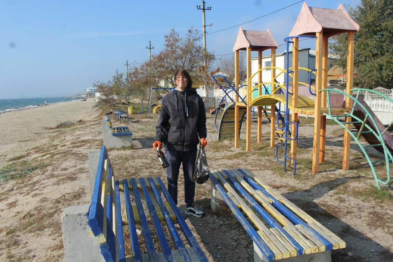 Бердянская молодёжь за чистые пляжи , фото-13