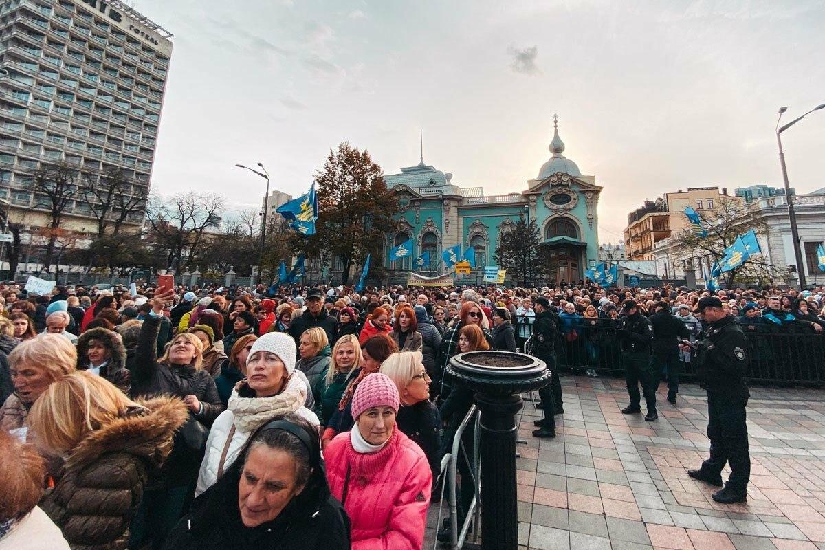 В Киеве проходит митинг  работников образования против 40-часовой рабочей недели, фото-3