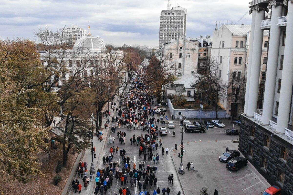В Киеве проходит митинг  работников образования против 40-часовой рабочей недели, фото-4