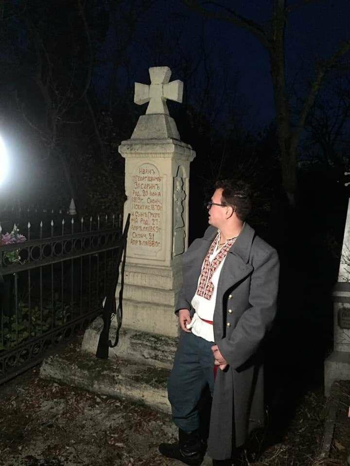 """Экскурсия на кладбище, """"встреча"""" с умершими  в Бердянске, фото-6"""