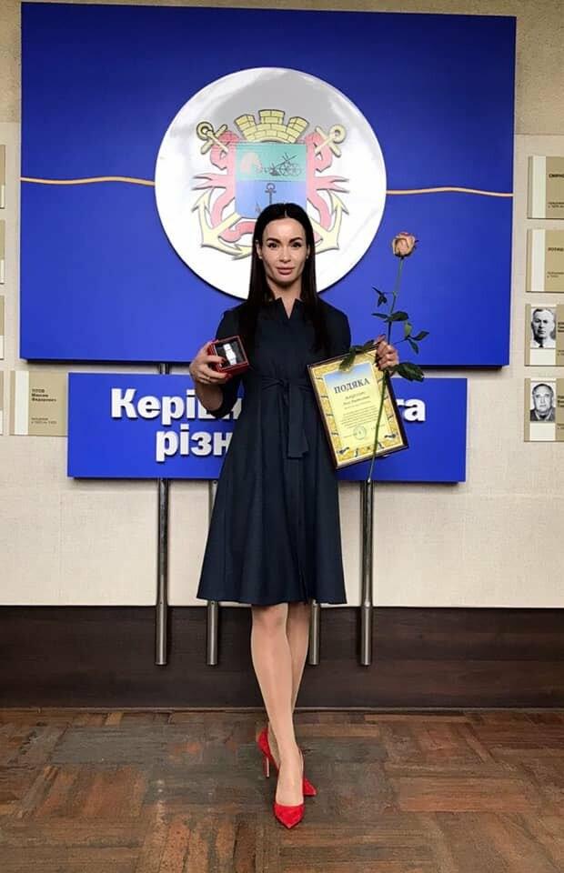 Чемпионку мира Аллу Мацегору наградили за заслуги перед Бердянском, фото-1