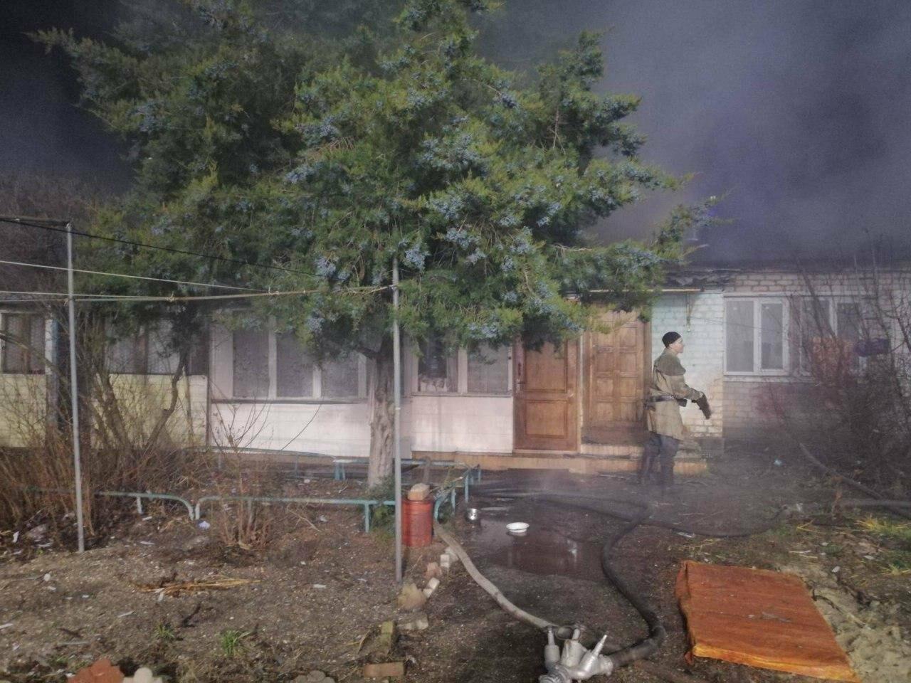 В Бердянске на улице Котляревского произошел пожар (фото), фото-1