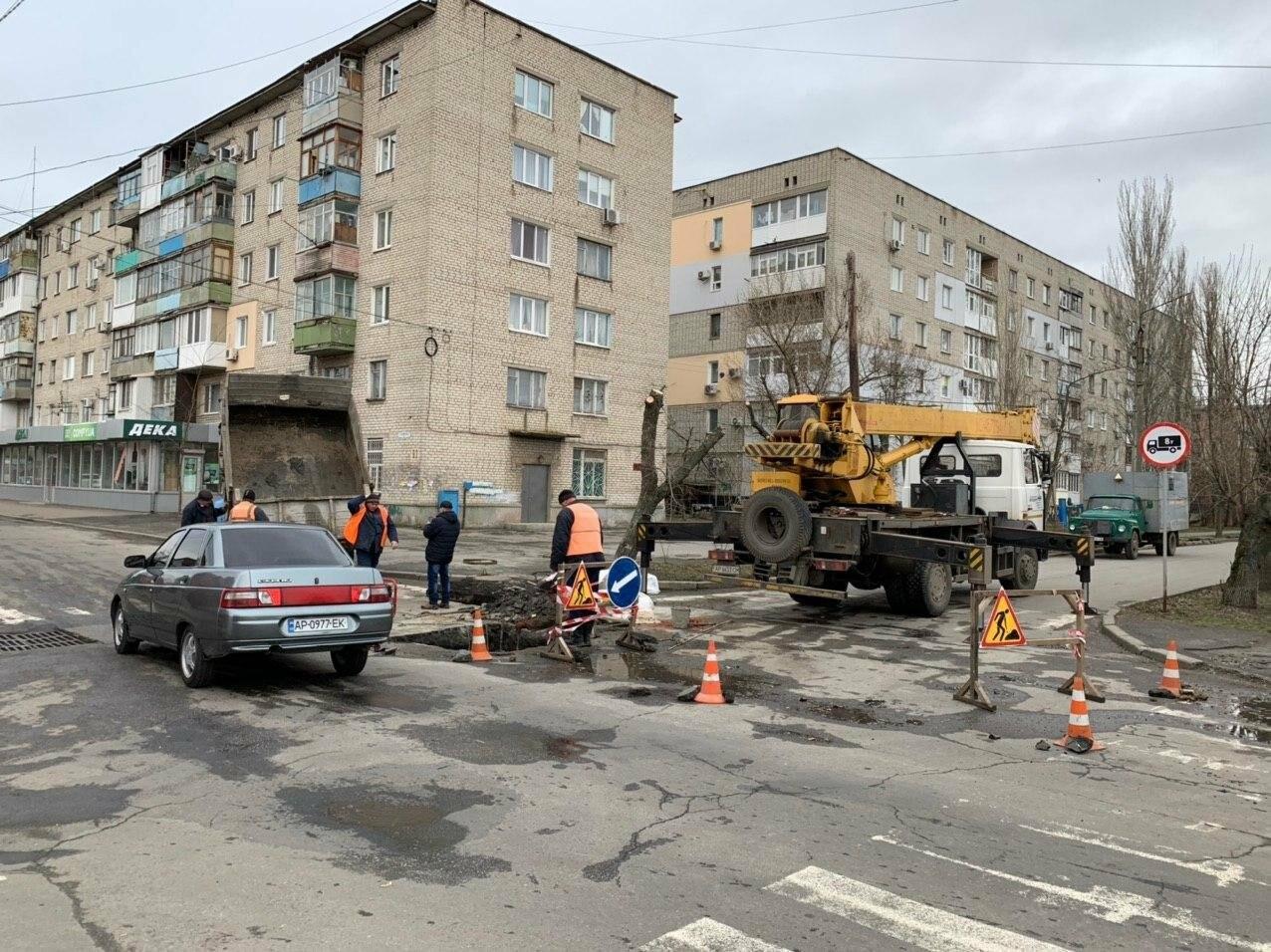Увага! Обмежено рух у центрі Бердянська, - фото, фото-4