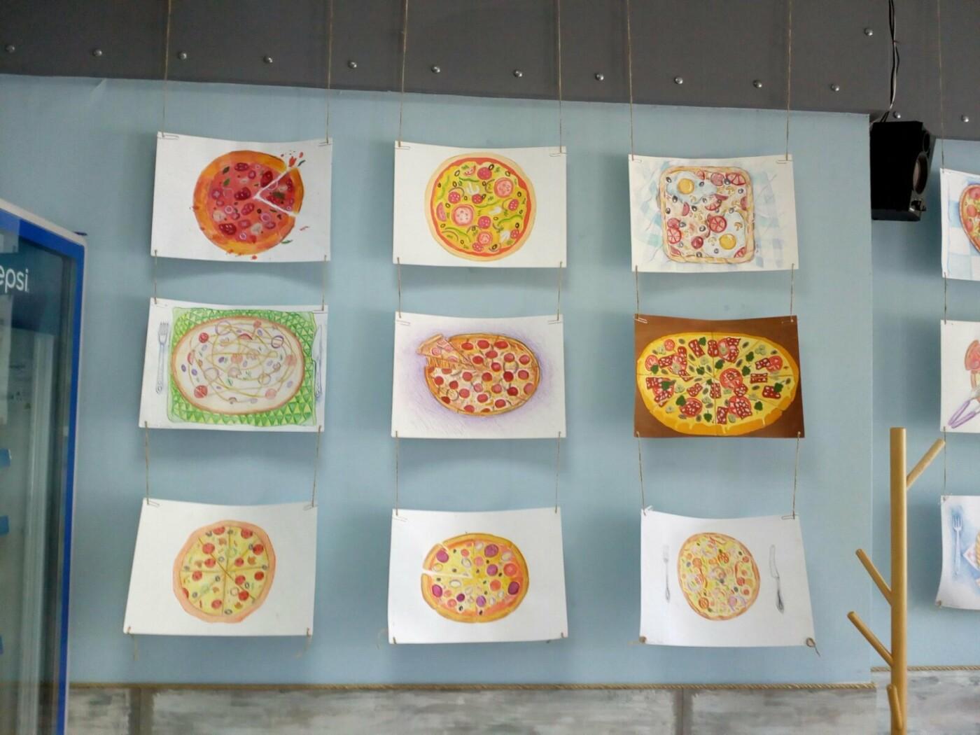 Юные художники Бердянска показали как разнообразно может выглядеть пицца, фото-4
