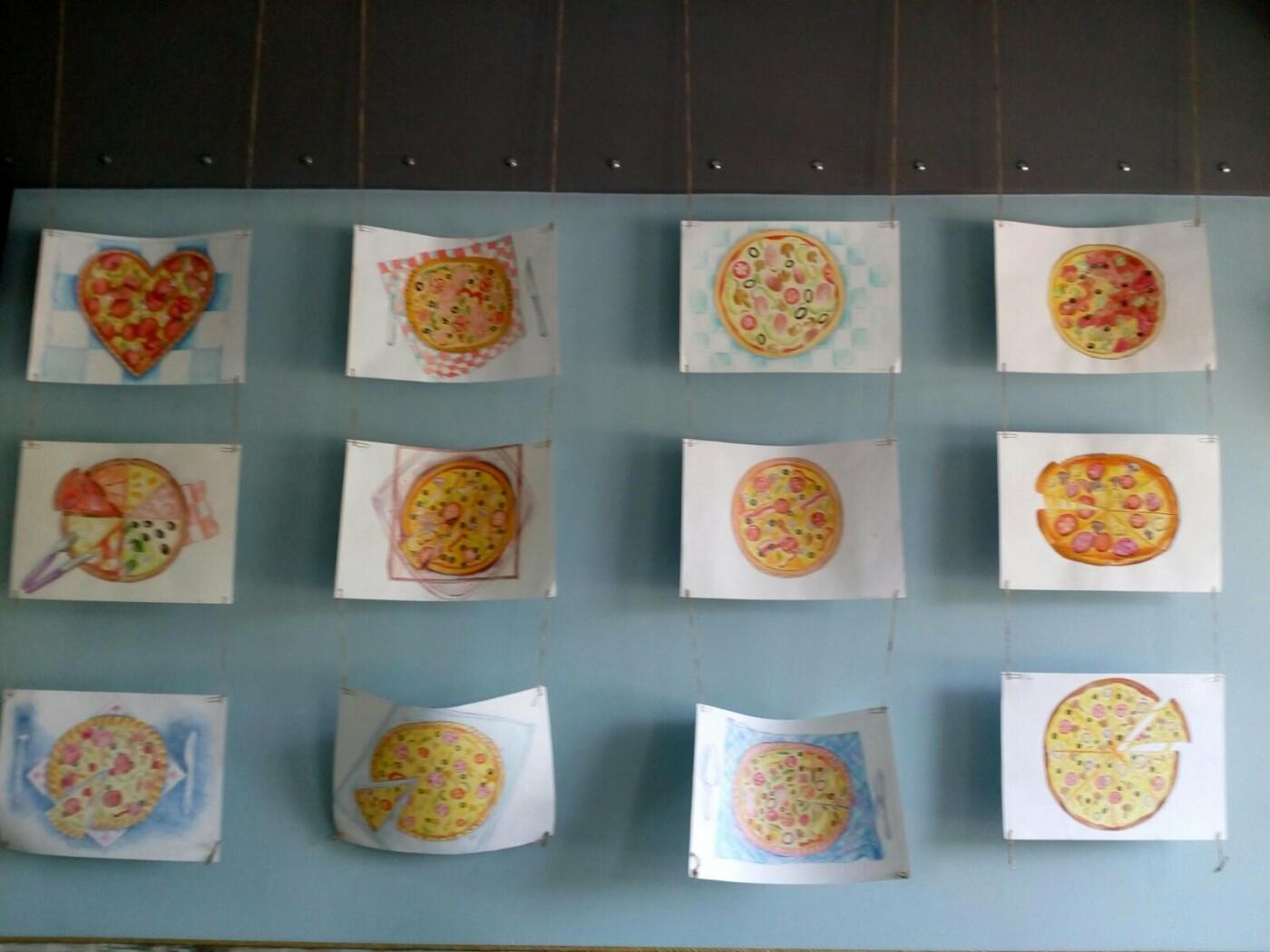 Юные художники Бердянска показали как разнообразно может выглядеть пицца, фото-3