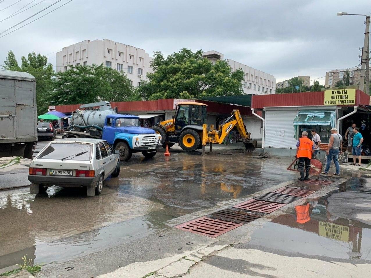 Порыв воды на улице Труда в Бердянске, - ФОТО, ВИДЕО, фото-1