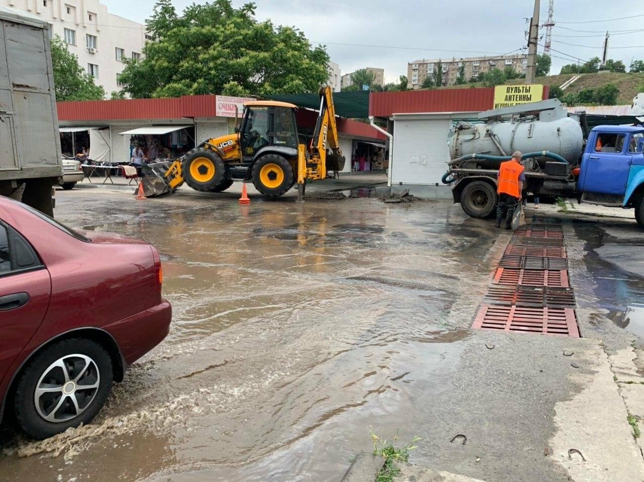 Порыв воды на улице Труда в Бердянске, - ФОТО, ВИДЕО, фото-4