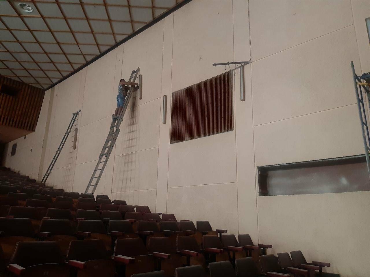 Масштабные ремонтные работы в малом зале бердянского ГДК, фото-4