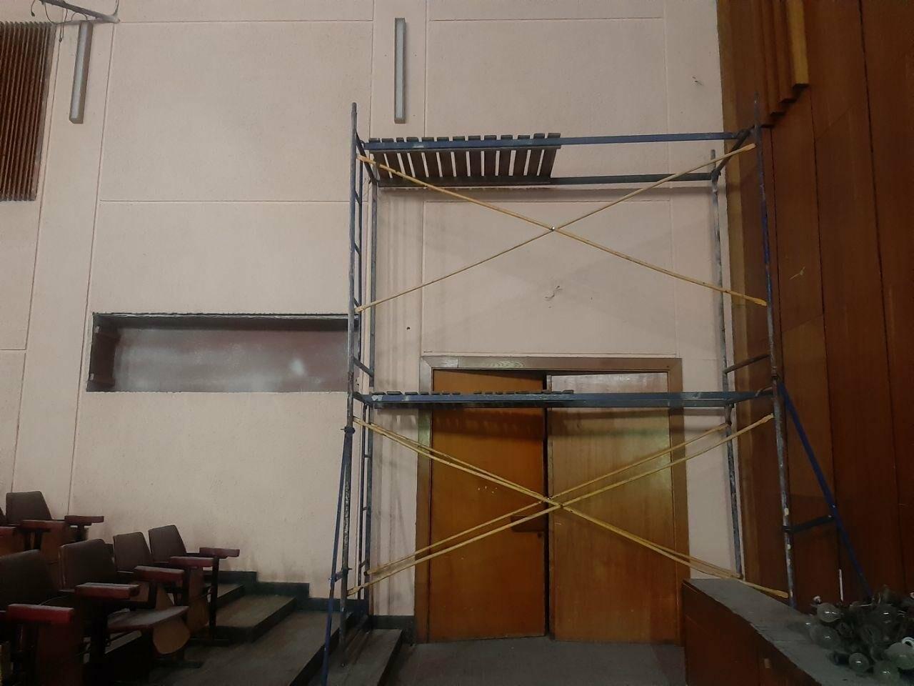 Масштабные ремонтные работы в малом зале бердянского ГДК, фото-6