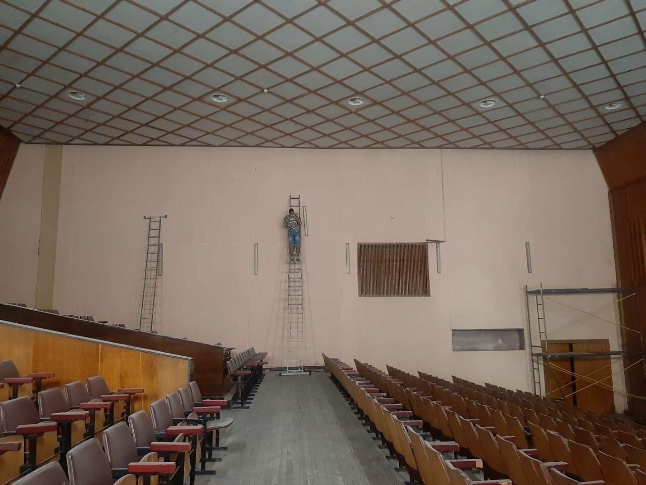Масштабные ремонтные работы в малом зале бердянского ГДК, фото-3