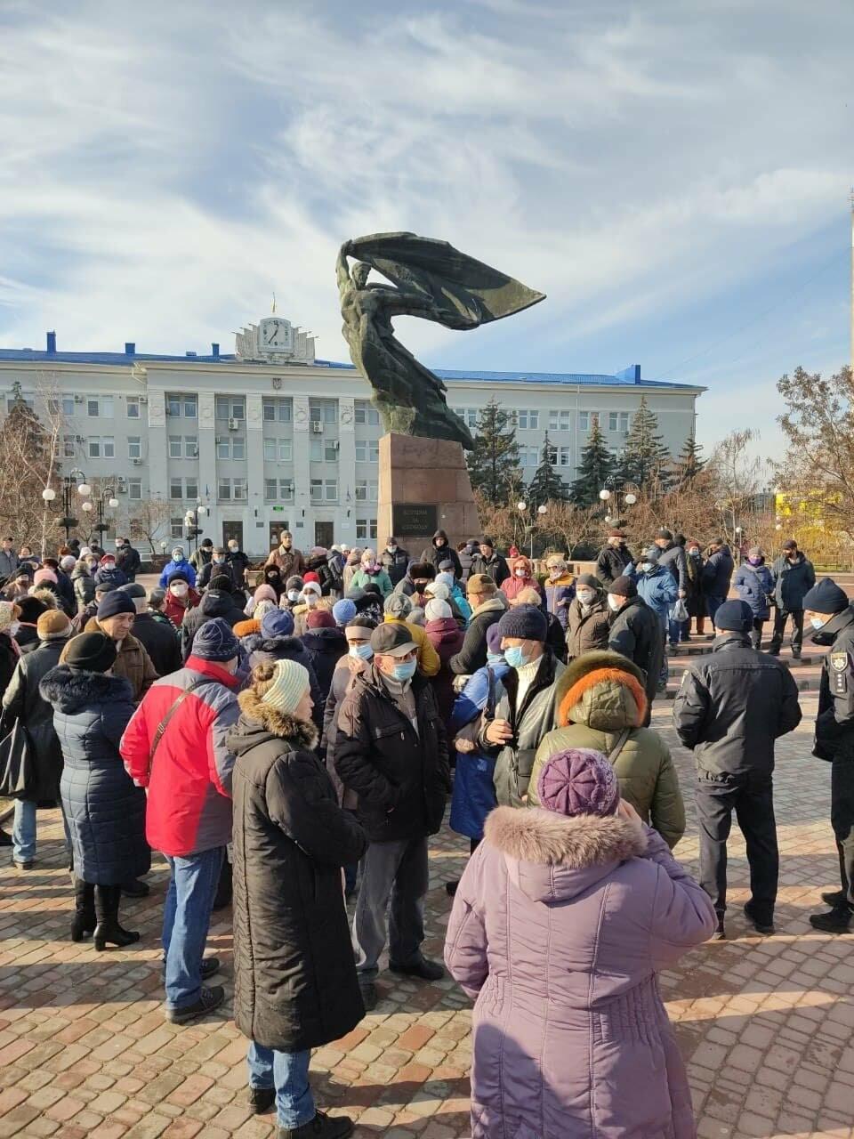 Бердянск присоединился к митингующим городам, фото-1