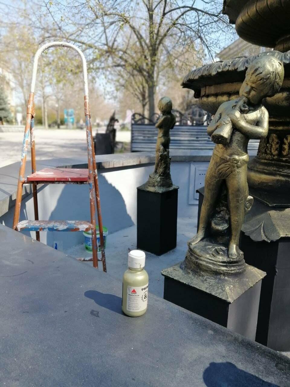 Бердянский фонтан украсят «золотые Купидоны» (ФОТОРЕПОРТАЖ), фото-8