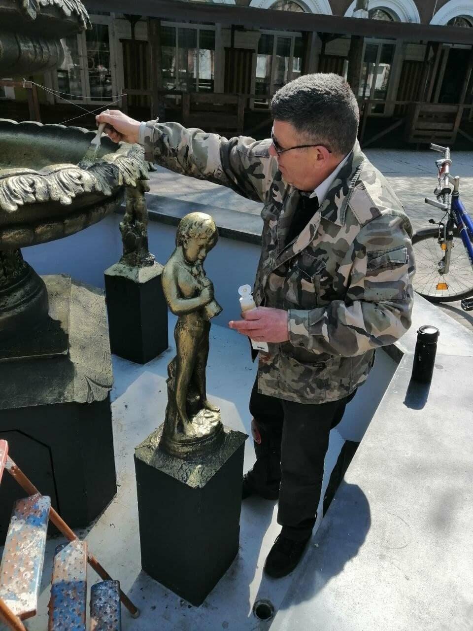 Бердянский фонтан украсят «золотые Купидоны» (ФОТОРЕПОРТАЖ), фото-6