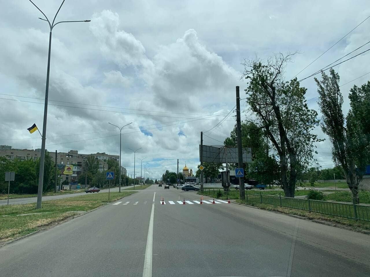 В Бердянске обновляют дорожную разметку, фото-2