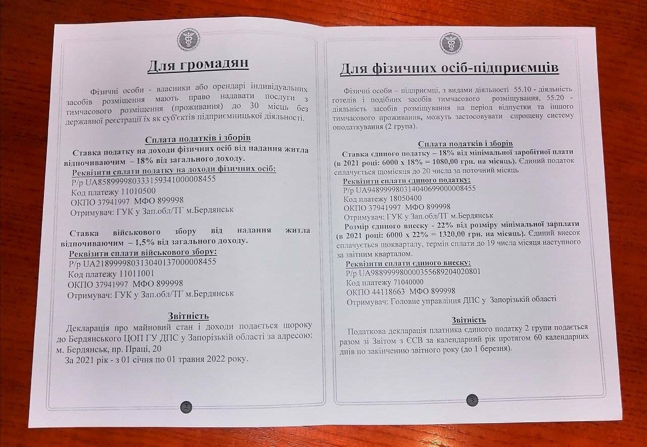 Предпринимателям, которые сдают жилье отдыхающим в Бердянске, раздадут памятки (ФОТО), фото-2
