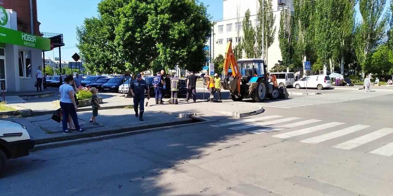 В Бердянске спасатели доставали угодившую в ливневку собаку, фото-2