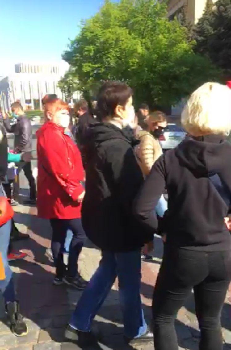 Предприниматели митингуют под стенами Кабмина против последствий карантина, фото-3