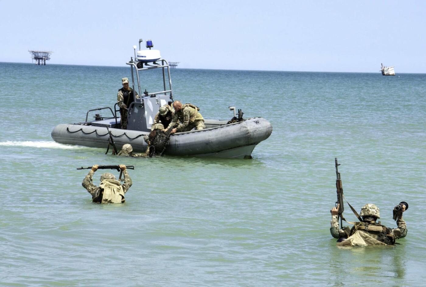 На берегу Азовського моря морпіхи проходили навчання, фото-5