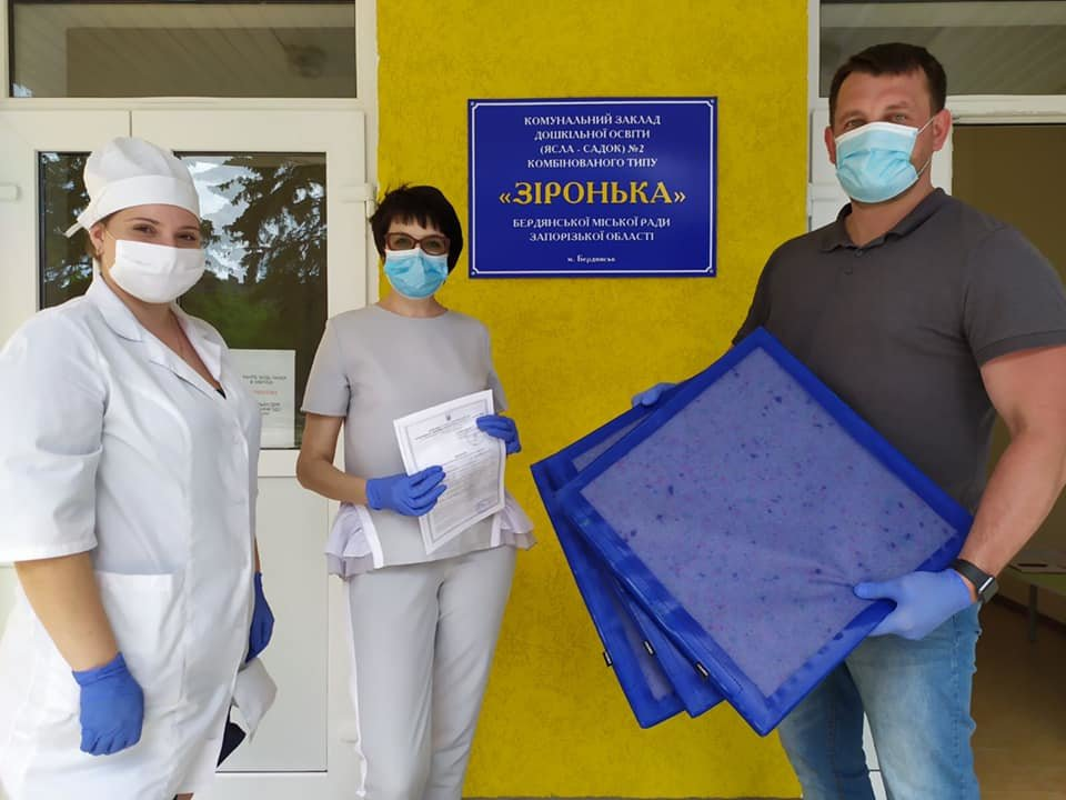 Бердянский депутат оснастил детсад дезинфекционными ковриками, фото-1