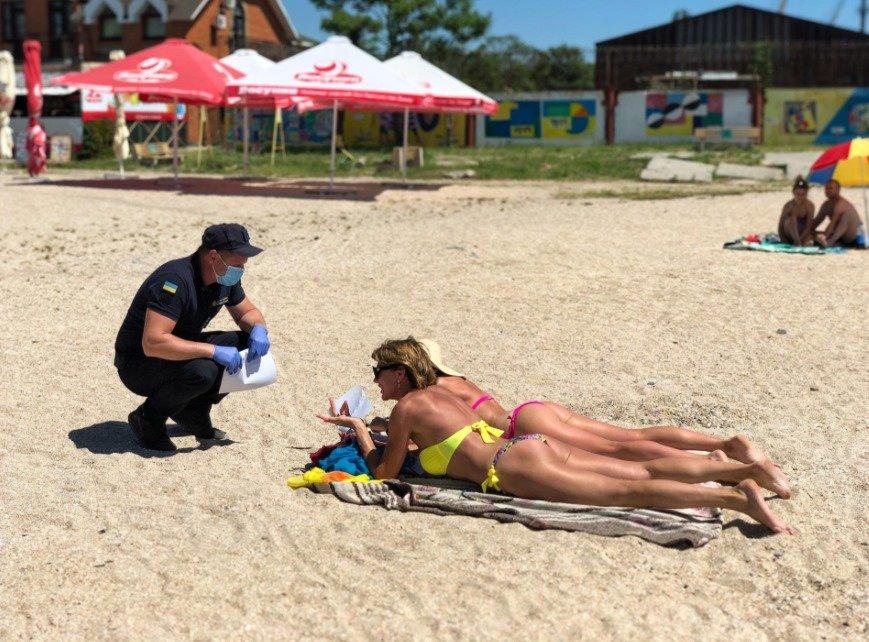 На бердянских пляжах проводят профилактические беседы с отдыхающими, фото-4