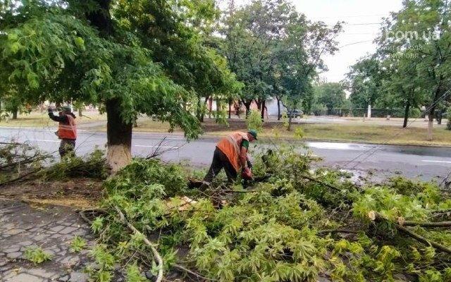 Сорванные крыши, сломанные деревья и вода по пояс: в Мариуполе прошел сильный ливень, - ФОТО, ВИДЕО, фото-10