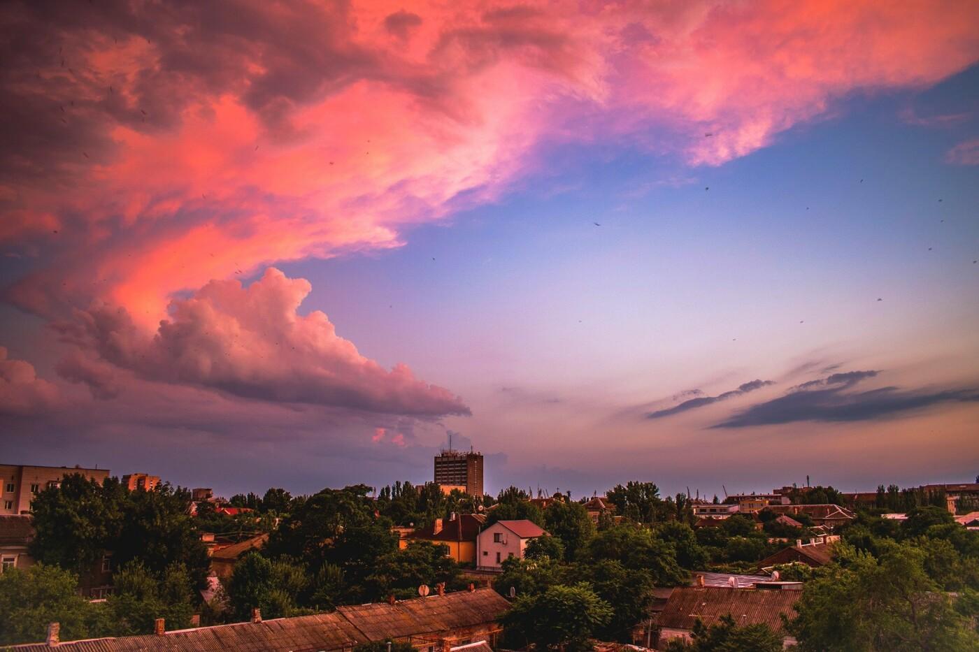 Дождливый вечер Бердянска, - ФОТО, фото-1