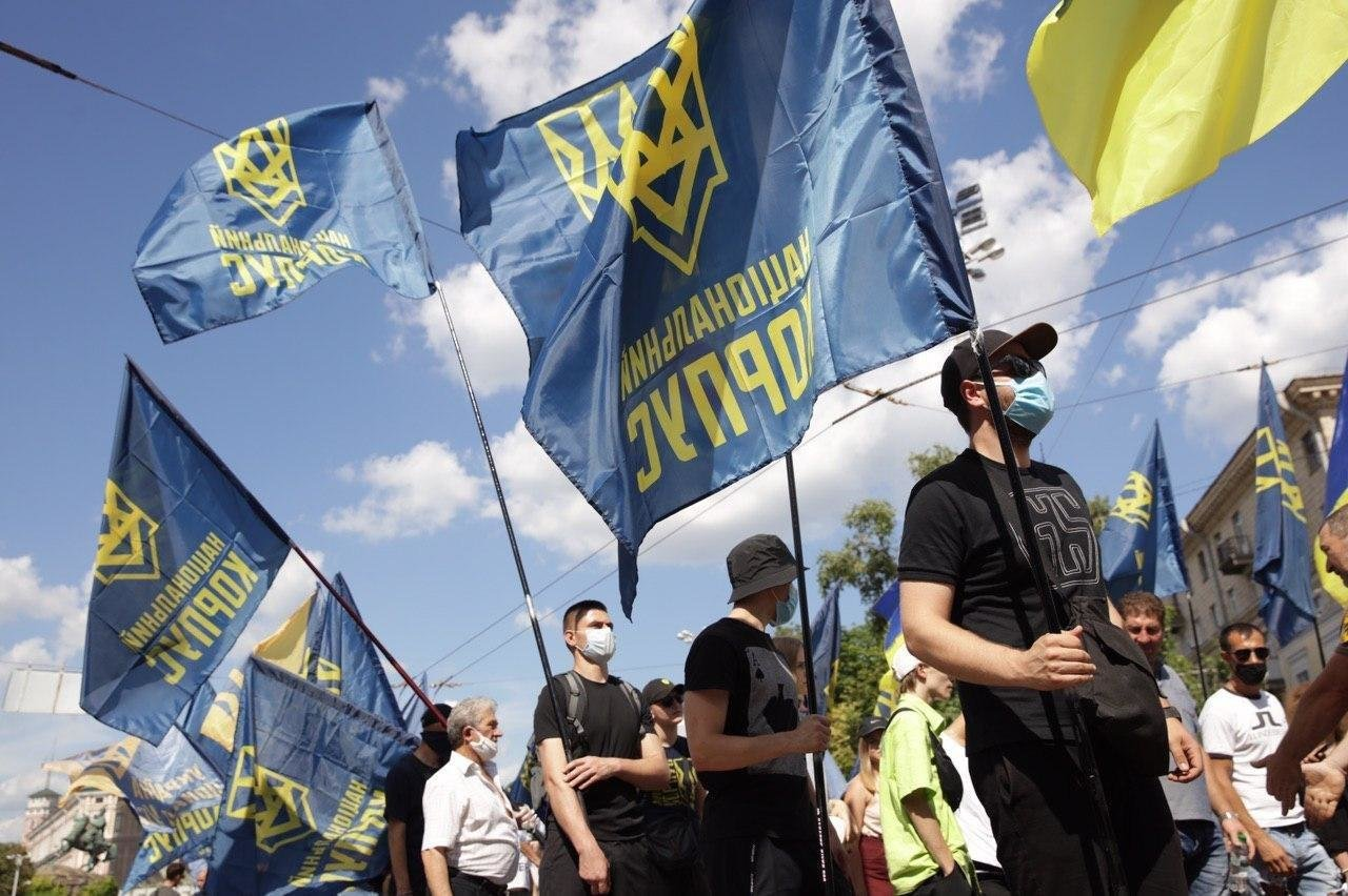«Нет – реваншу антиукраинских сил»: Национальный Корпус вышел на акцию протеста в столице, фото-2