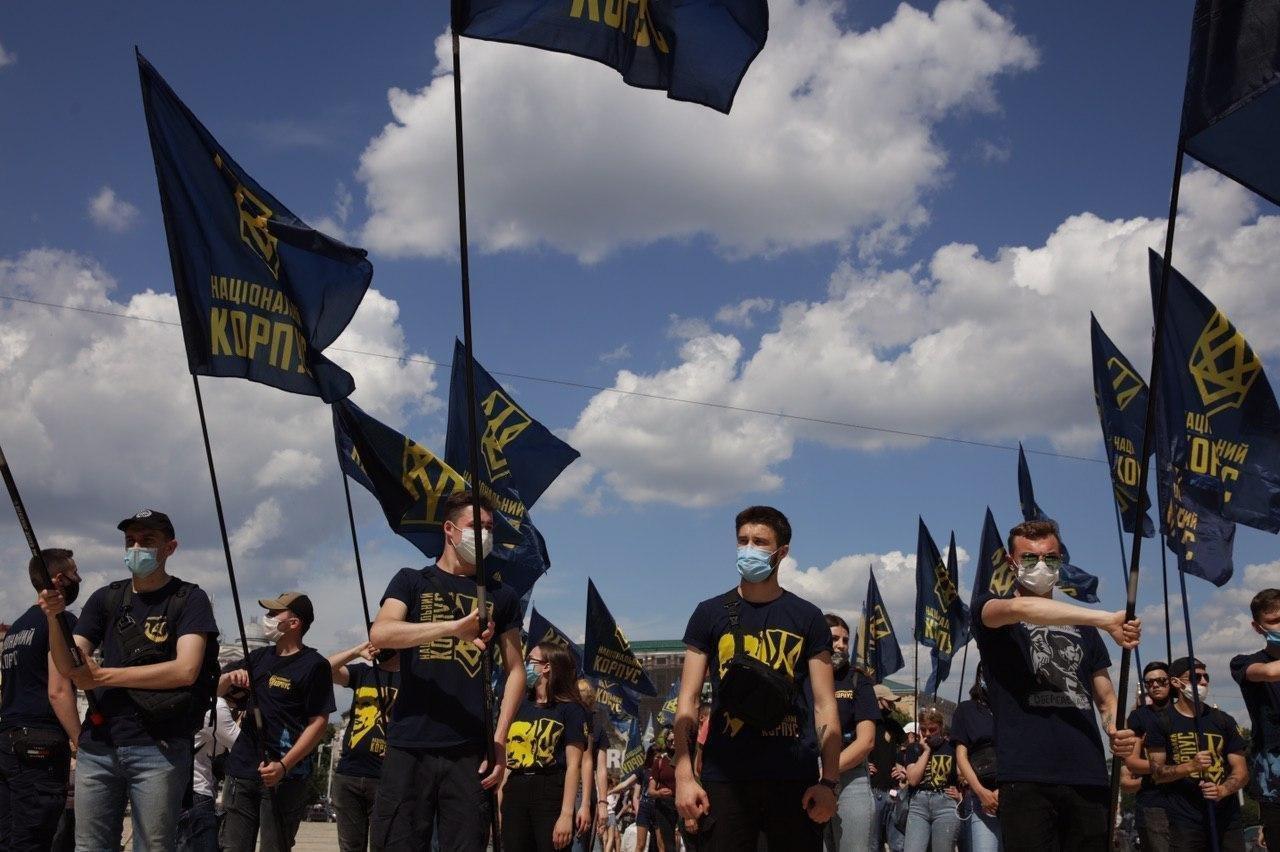 «Нет – реваншу антиукраинских сил»: Национальный Корпус вышел на акцию протеста в столице, фото-3