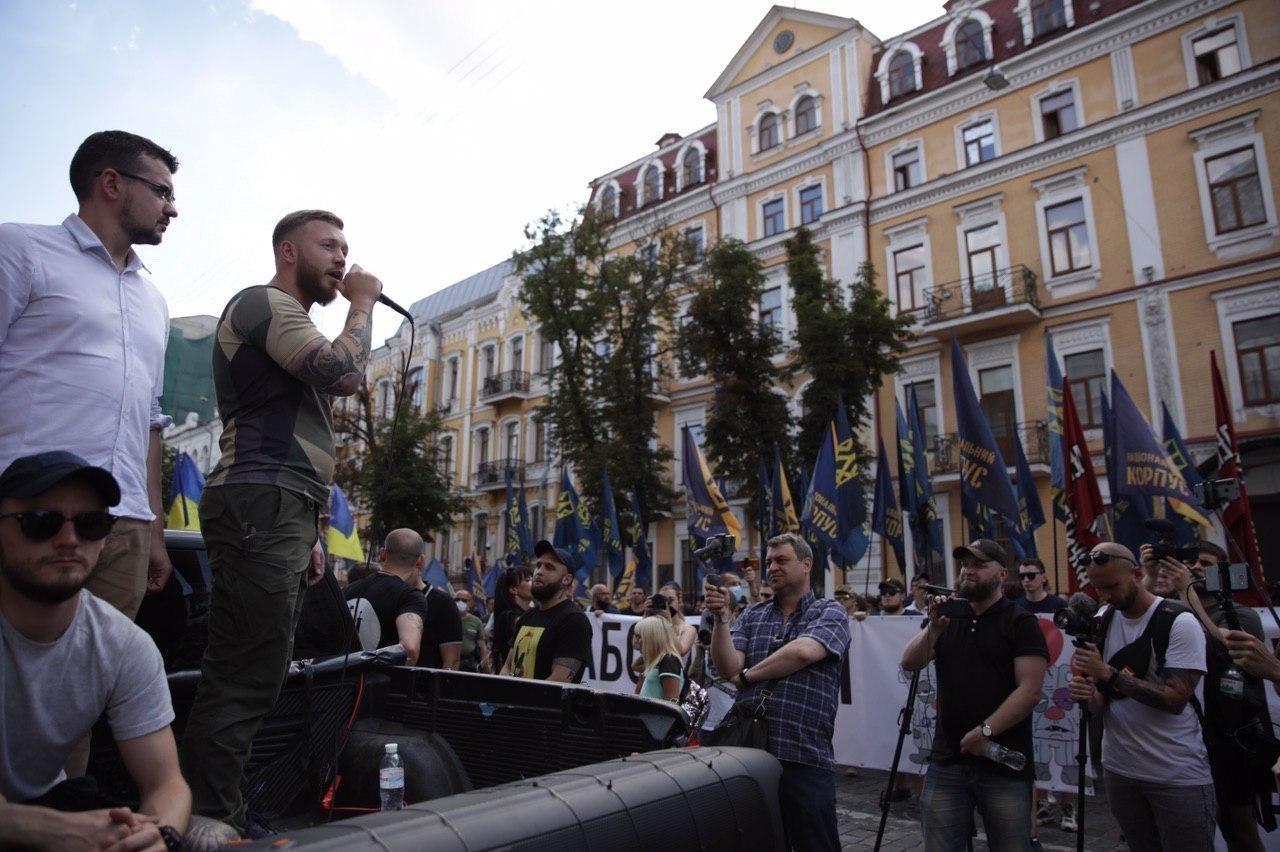 «Нет – реваншу антиукраинских сил»: Национальный Корпус вышел на акцию протеста в столице, фото-4