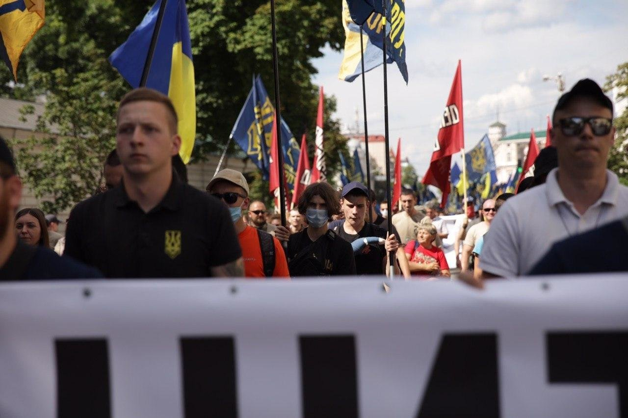 «Нет – реваншу антиукраинских сил»: Национальный Корпус вышел на акцию протеста в столице, фото-5