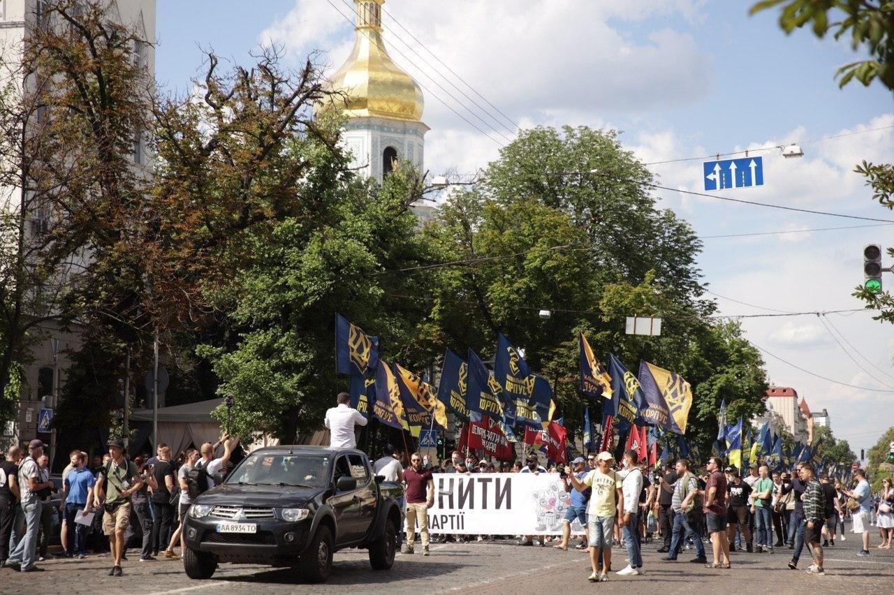 «Нет – реваншу антиукраинских сил»: Национальный Корпус вышел на акцию протеста в столице, фото-6