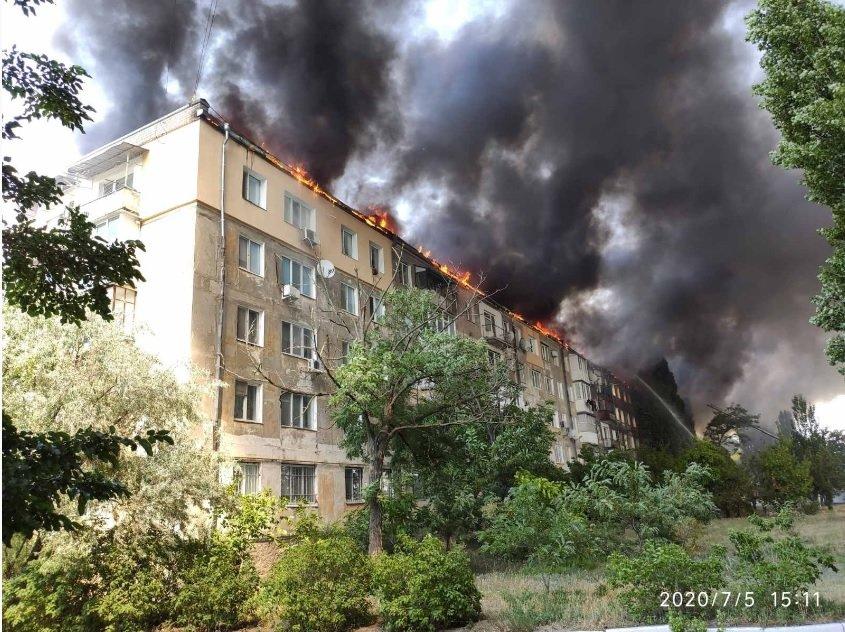 Пожар в Новой Каховке: назвали причины возгорания 5-этажки, фото-2
