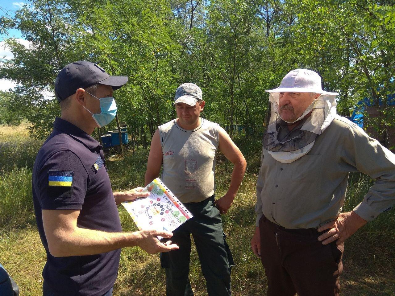 Бердянские спасатели провели профилактическую работу на водохранилище, фото-1