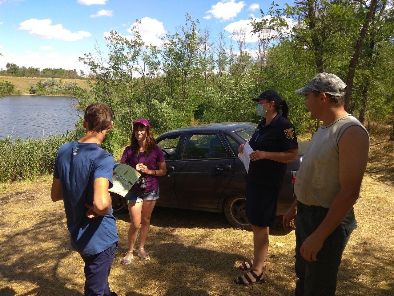 Бердянские спасатели провели профилактическую работу на водохранилище, фото-2