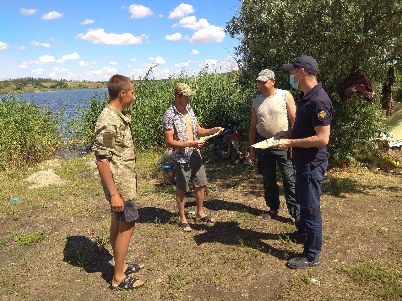 Бердянские спасатели провели профилактическую работу на водохранилище, фото-3