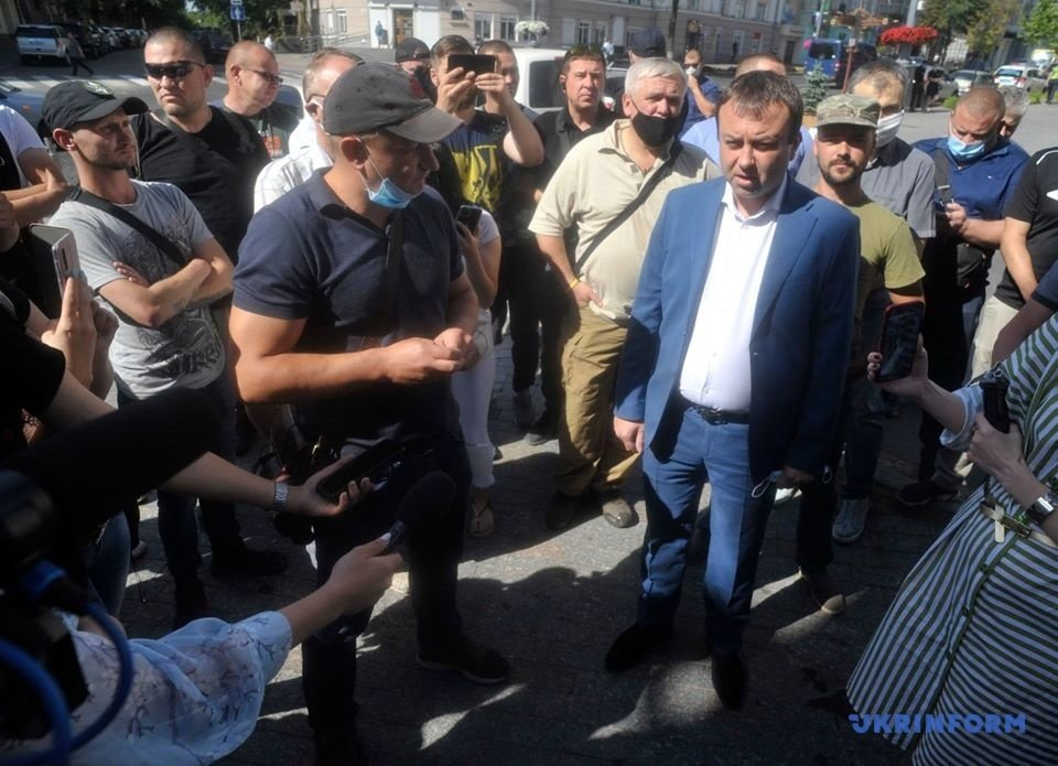 Протест под зданием Винницкой ОГА