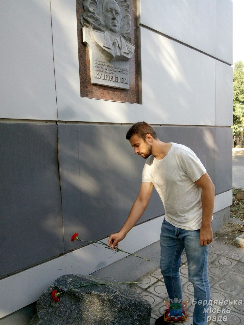В Бердянске прошло возложение цветов к 75-й годовщине окончания Второй мировой войны, фото-11