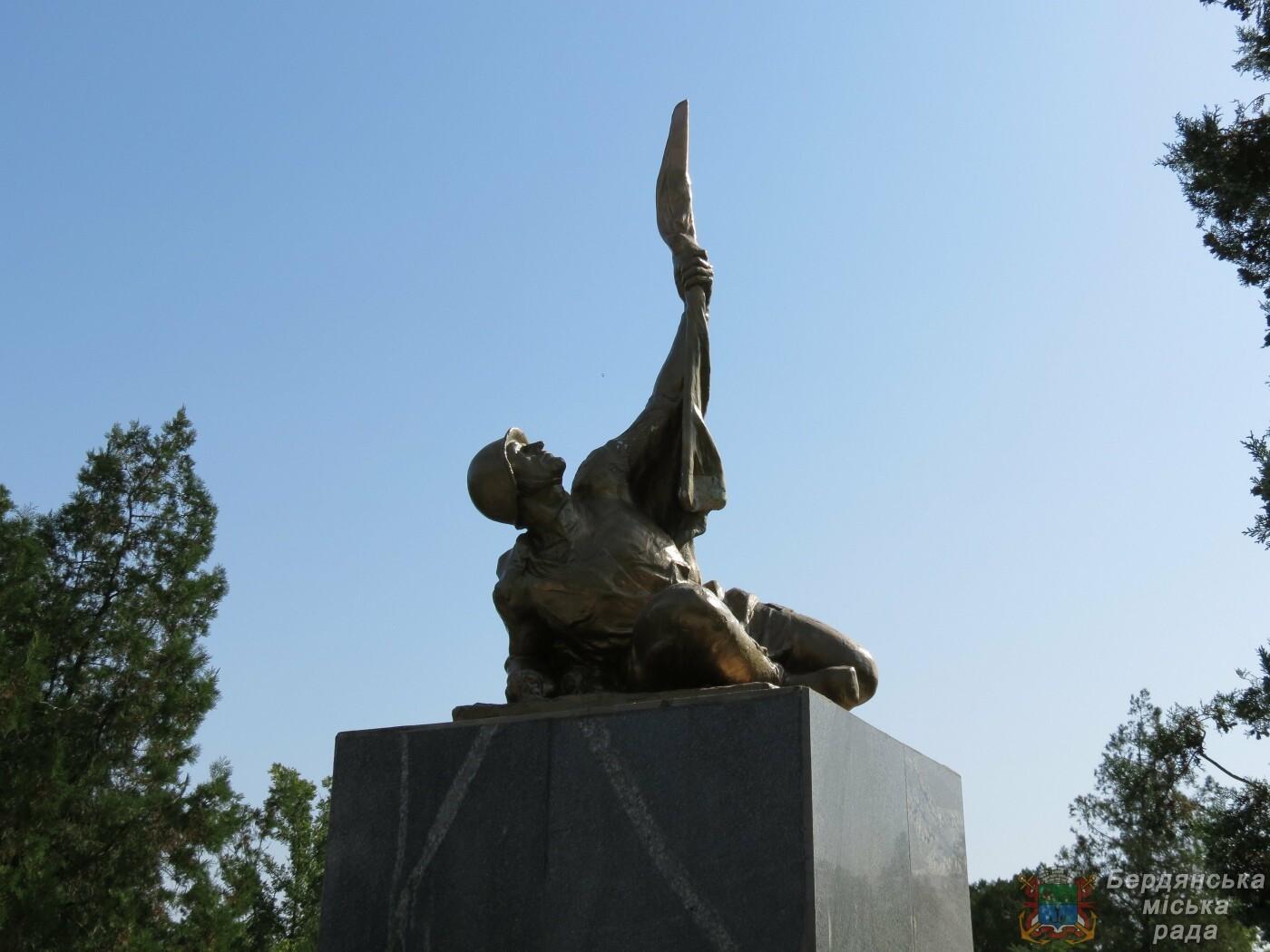 В Бердянске прошло возложение цветов к 75-й годовщине окончания Второй мировой войны, фото-4