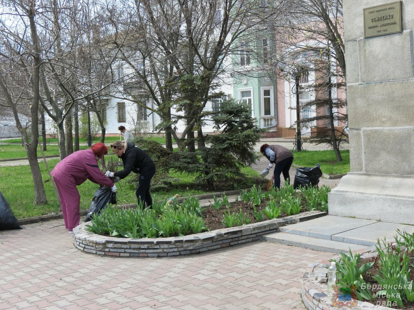 В Бердянске продолжаются субботники (ФОТО), фото-5