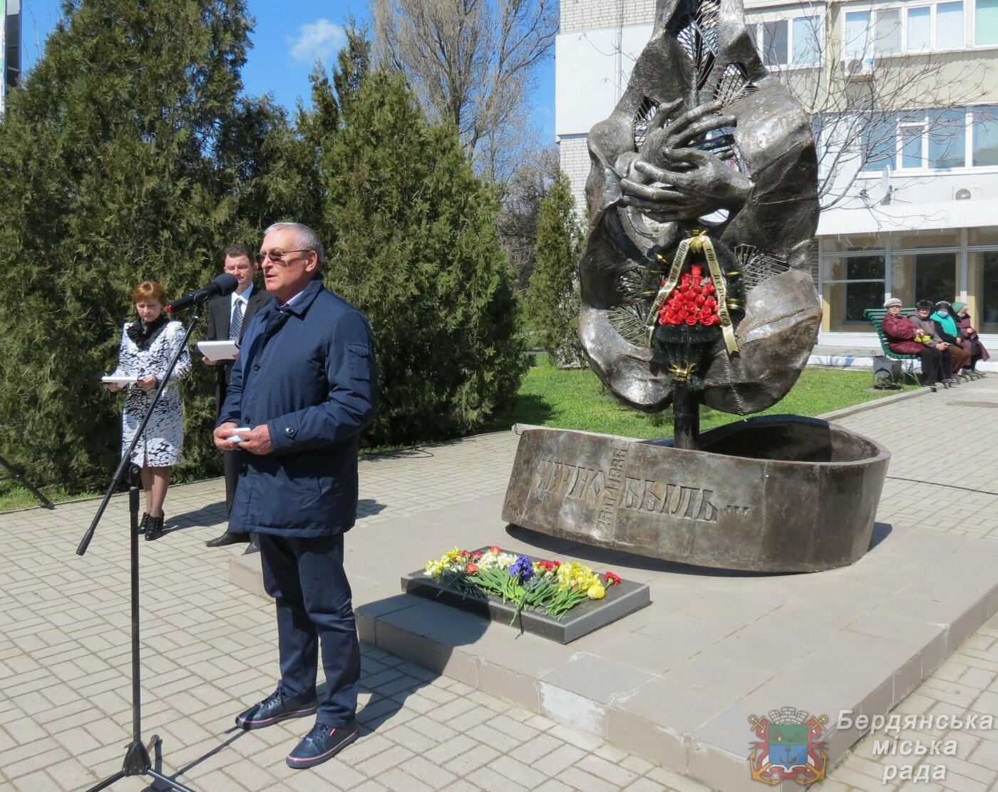 В Бердянске прошел митинг к 35-й годовщины аварии на Чернобыльской атомной электростанции, фото-4