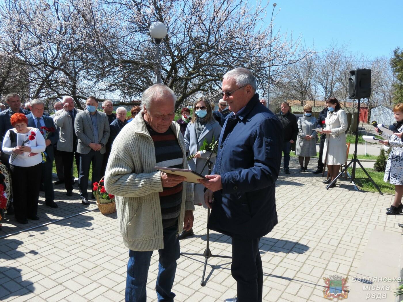 В Бердянске прошел митинг к 35-й годовщины аварии на Чернобыльской атомной электростанции, фото-7