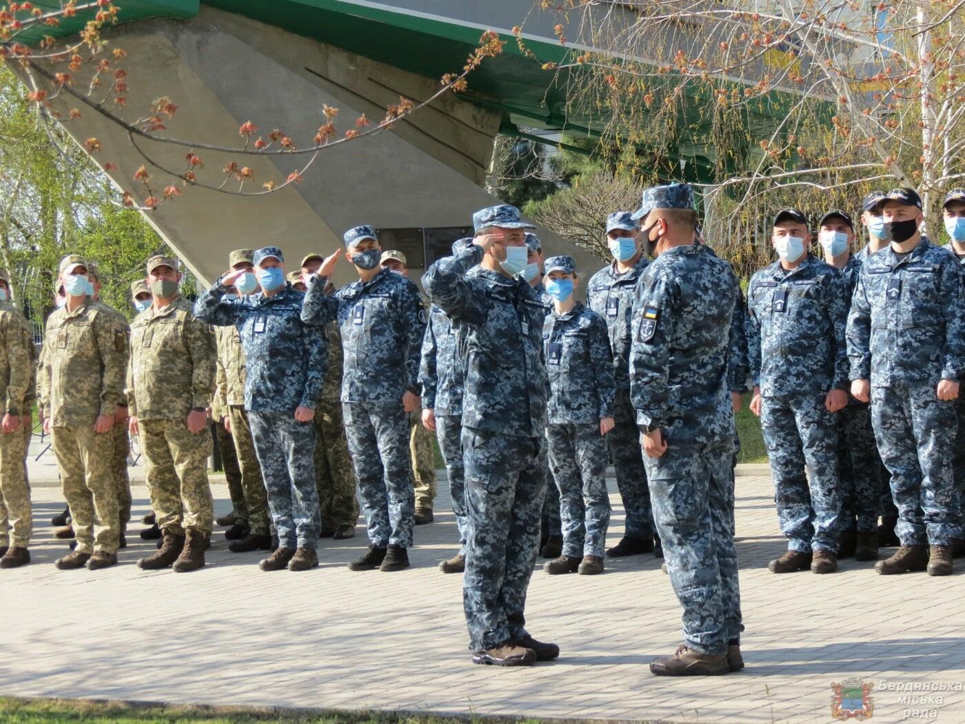 В Бердянске состоялось торжественное поднятие флага Военно-Морских Сил Вооруженных Сил Украины, фото-6